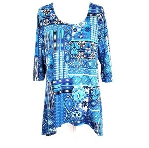 NWOT New Directions Womens Tunic VBack Top Size 1X